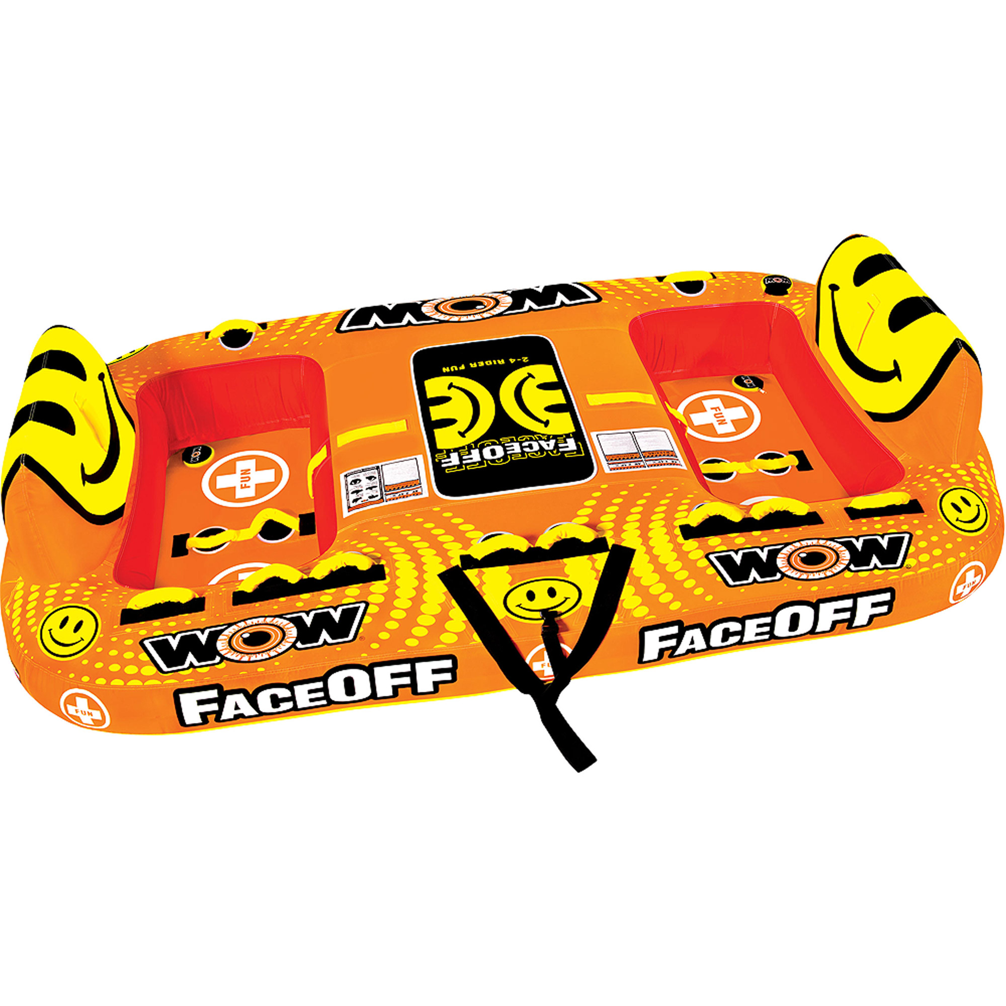 WOW World of Watersports, 15-1050, Face-Off Towable, Ride Face to Face, 1 to 4 Person by World of Watersports