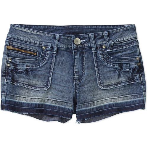 No Boundaries Juniors' Porkchop-Pocket Denim Shorts