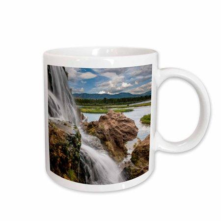 3dRose Fall Creek Waterfall, South Fork of Snake River, Swan Valley, Idaho - Two Tone Blue Mug,