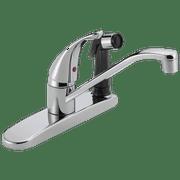 Peerless Single Handle Deck-Mount Kitchen Faucet in Chrome P114LF