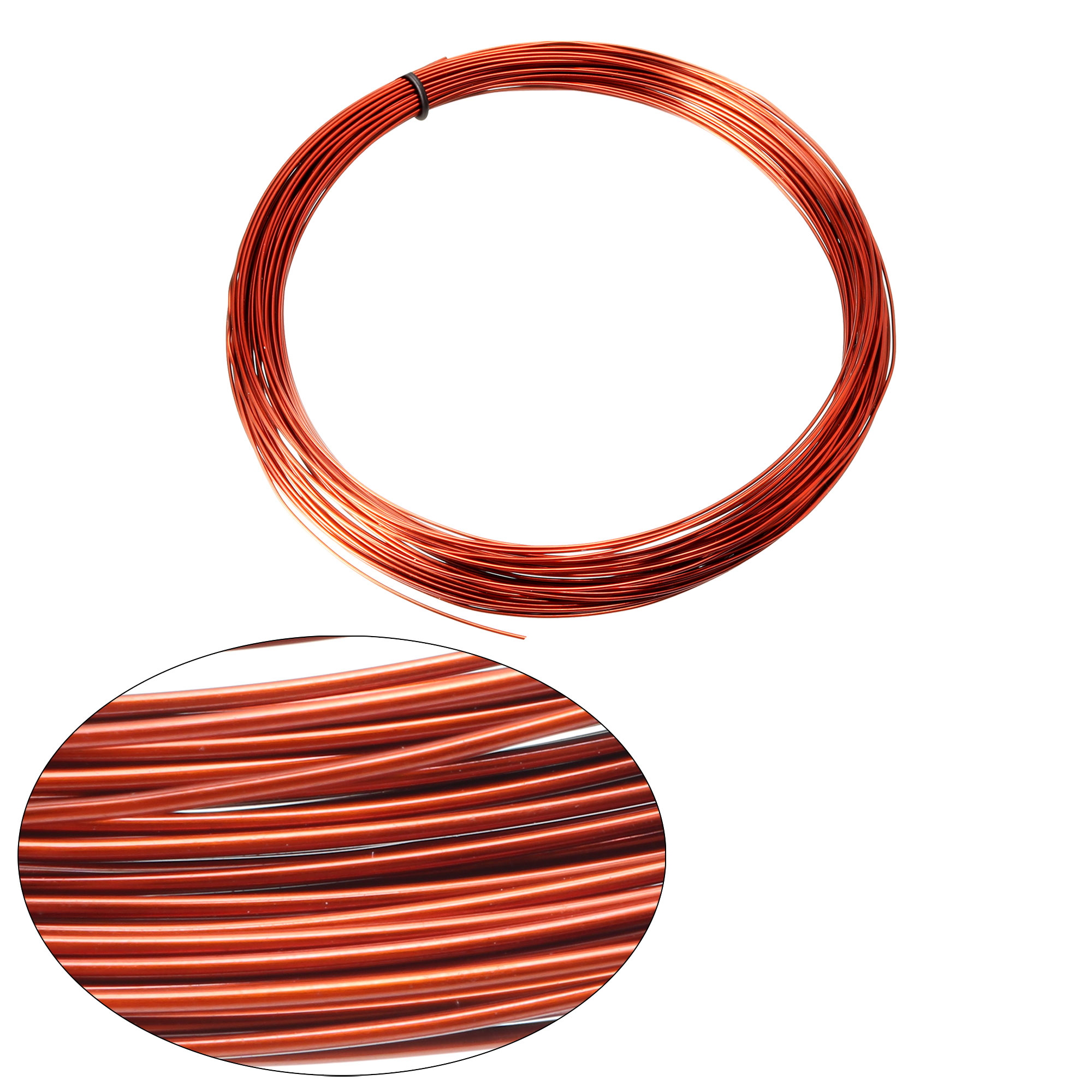 0.85mm Dia Magnet Wire Enameled Copper Wire Winding Coil 49' Length Widely Used for Transformers Inductors - image 1 de 3
