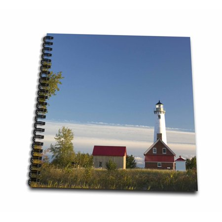 3dRose Michigan, Tawas Point Lighthouse on Lake Huron - US23 WBI0139 - Walter Bibikow - Mini Notepad, 4 by 4-inch (Tawas Point)