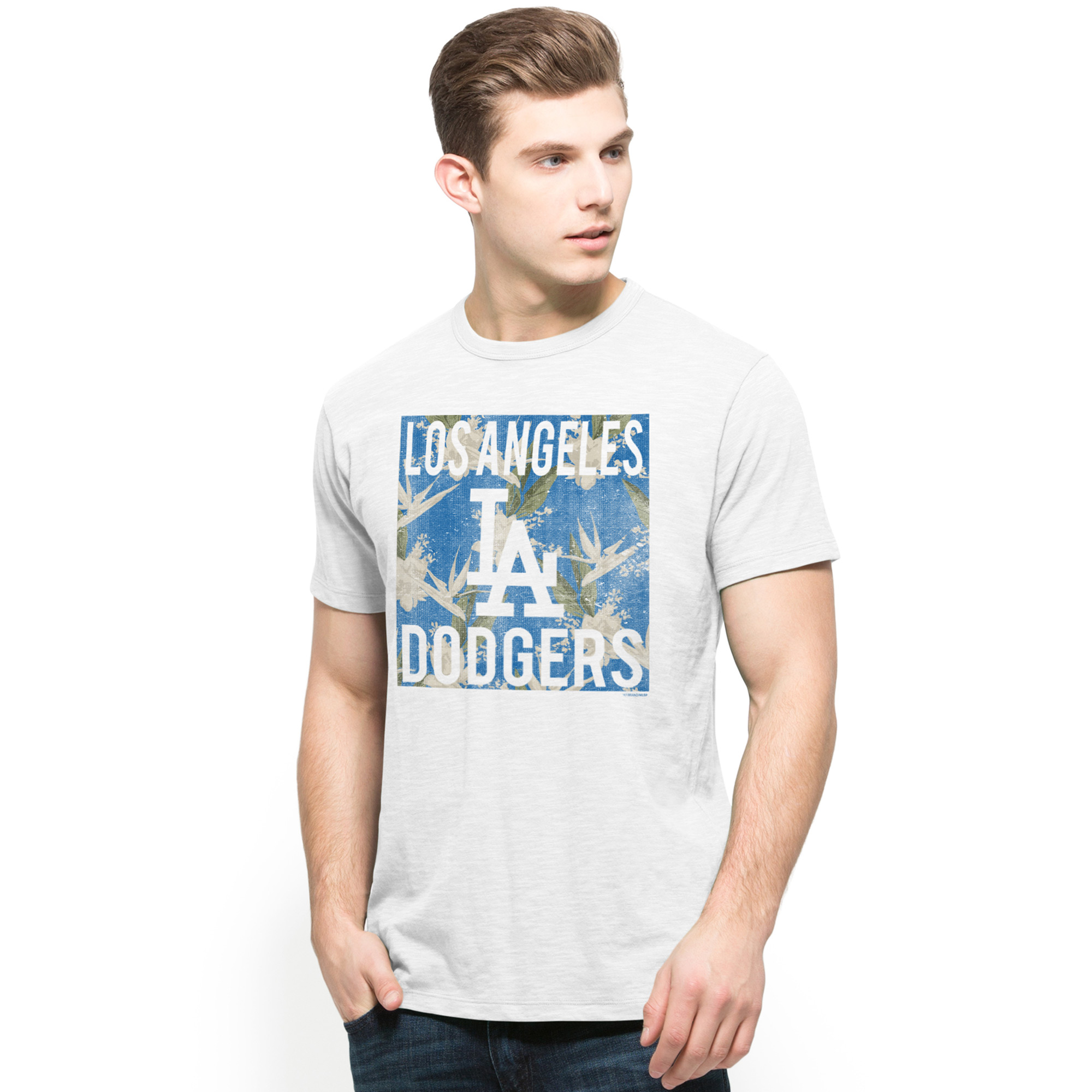 Los Angeles Dodgers '47 Biscayne Scrum T-Shirt - White