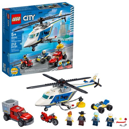 LEGO City Police Helicopter Chase Building Sets for Kids 60243