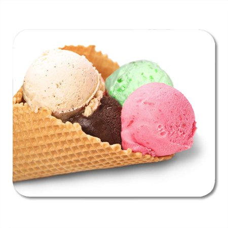 KDAGR Pink Calorie Brown Dessert Ice Cream White Green Creamy Mousepad Mouse Pad Mouse Mat 9x10