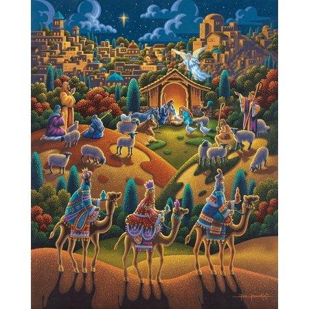 Jigsaw Puzzle - Nativity 100 Pc By Dowdle Folk - Nativity Jigsaw