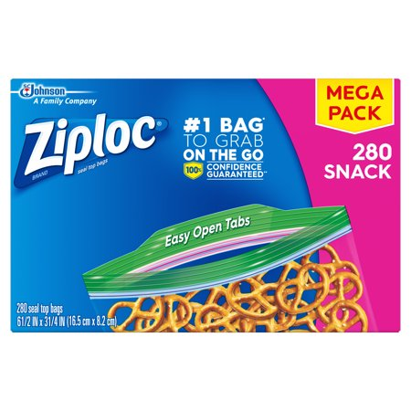 Ziploc Snack Bags, 280 ct - Halloween Snack Food Ideas