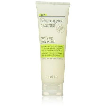 12 PACKS : Neutrogena Naturals Purifying Pore Scrub, 4 Fluid