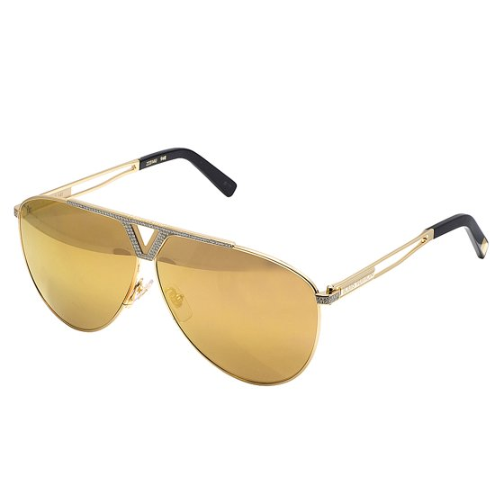3bf9935b5270 Louis Vuitton - Louis Vuitton Men's Custom Brown Shades Tonca Diamond  Sunglasses Z2314U 1.85CT - Walmart.com