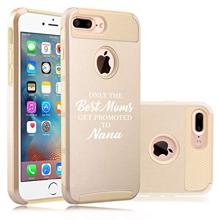Shockproof Impact Hard Soft Case Cover for Apple (iPhone 7 Plus/iPhone 8 Plus) The Best Moms Get Promoted to Nana (Best Offer On Iphone 7 Plus)