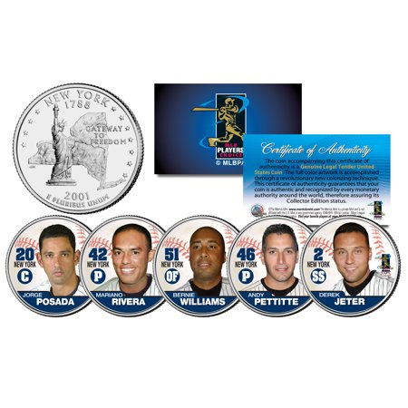YANKEES FAB FIVE NY Quarters US 5-Coin Set JETER MARIANO POSADA PETTITTE (Ny Yankees Legend)