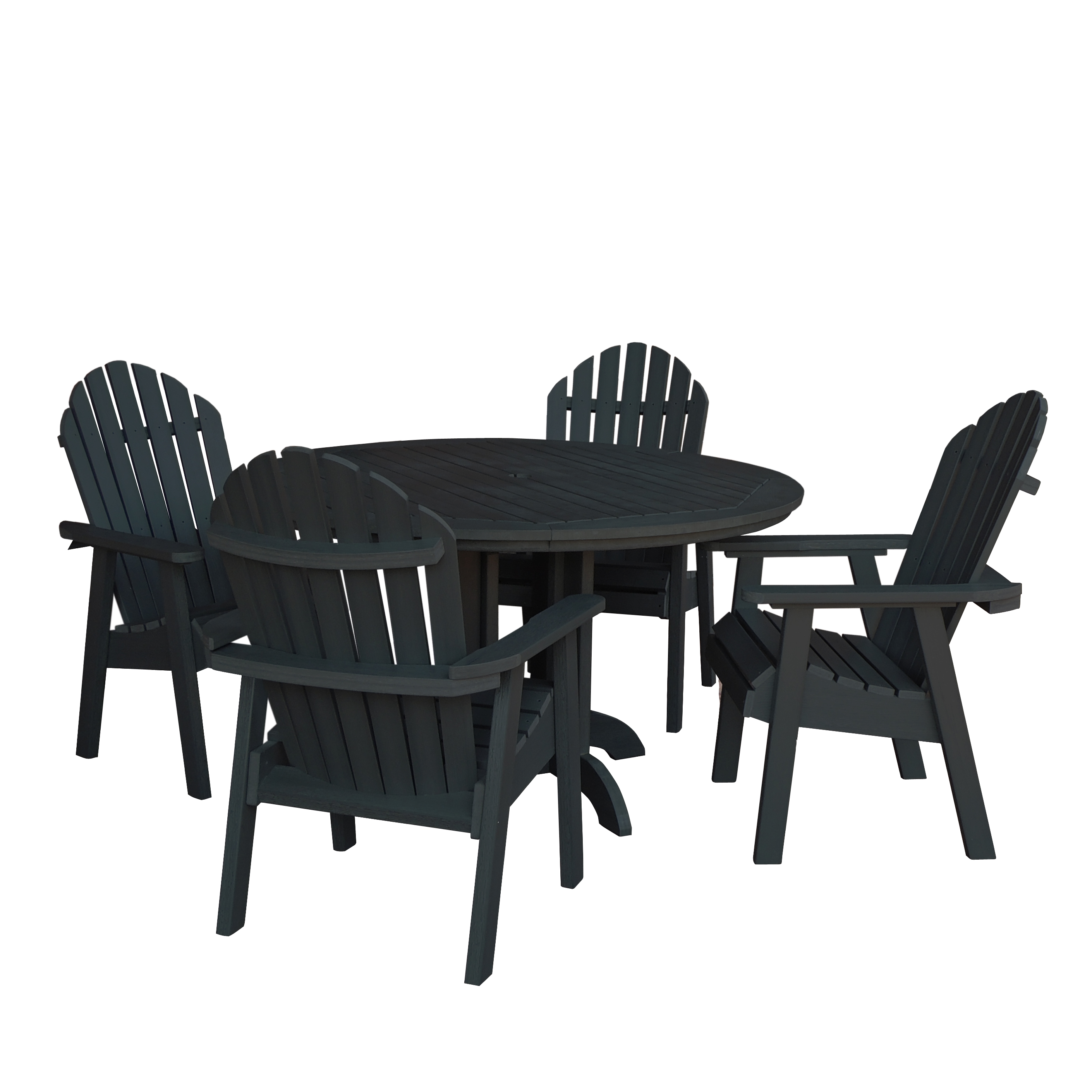 highwood® Eco-Friendly Recycled Plastic Hamilton 5pc Round Dining Set