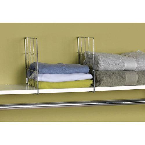 Household Essentials 2pc Wire Shelf Divider Set by Generic