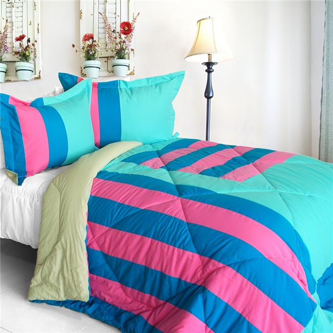 ONITIVA-CFT01064-23BRK-MPTP Great Hometown - Quilted Patchwork Down Alternative Comforter Set  Full & Queen Size - Blue - image 1 of 1