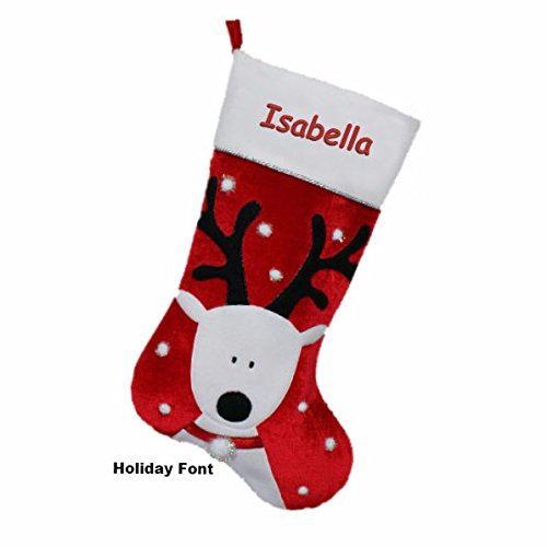 Personalized Jumbo Reindeer Christmas Stocking
