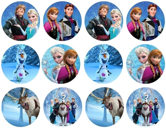 frozen cupcake toppers Elsa cupcake topper Elsa and Anna cupcake toppers. Anna cupcake toppers frozen party