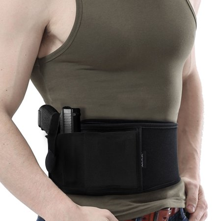 Black Tactical Concealed Carry Holster Police Bodyguard Ultimate Belly Band