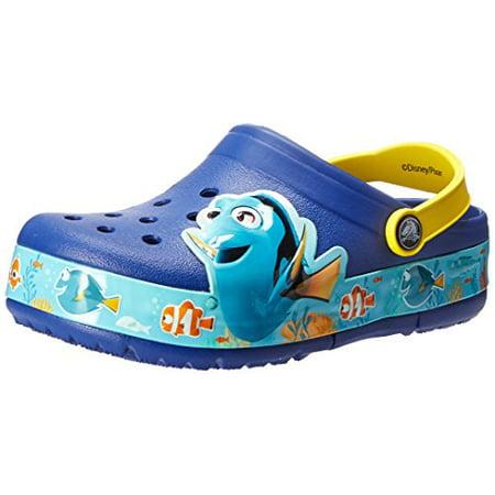 85b8e4283 Crocs - Crocs 202881-4AX  Light Finding Dory Clog Cerulean Blue Lemon Kids  Sandal (11 M US Little Kid