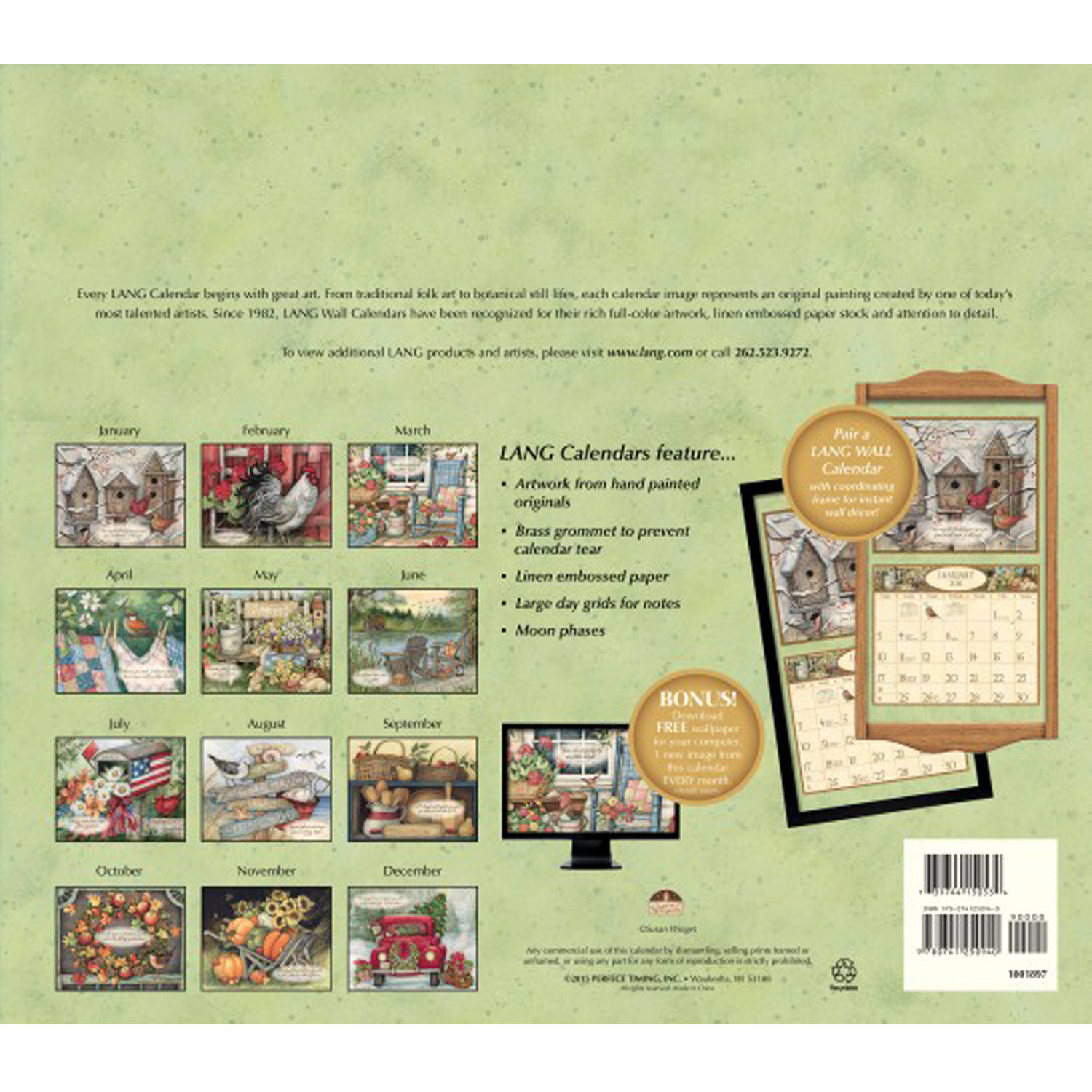 Lang Bountiful Blessings 2016 Wall Calendar - Walmart.com
