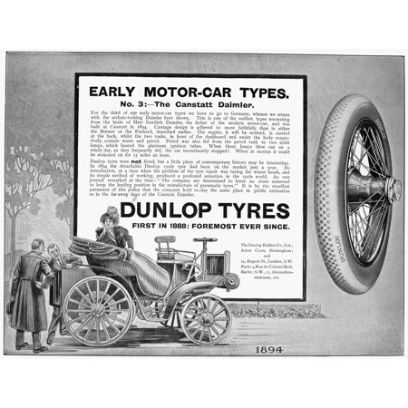 Dunlop Tires 1913 Nenglish Newspaper Advertisement 1913 Poster Print by Granger Collection