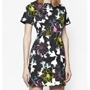 French Connection NEW Black Floral Print Women's Size 10 Sheath Dress