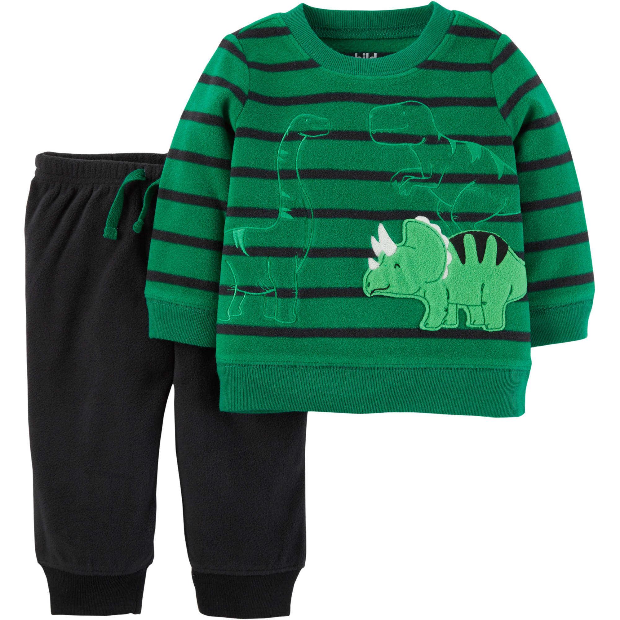 Child of Mine by Carter's Toddler Boy Microfleece Shirt and Pants, 2pc Outfit Set