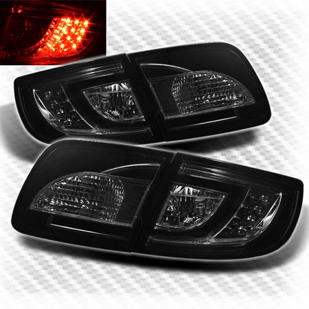 Smoked 2004-2009 Mazda 3 Sedan 4 Door LED Tail Lights Rear Brake Smoke Lamp Pair Left+Right 2005 2006 2007 (2007 Mazda Cx 7 Tail Light Assembly)