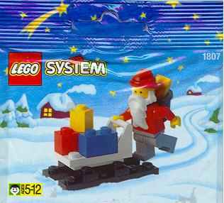 LEGO System Santa Claus & Sleigh Mini Set #1807 [Bagged]
