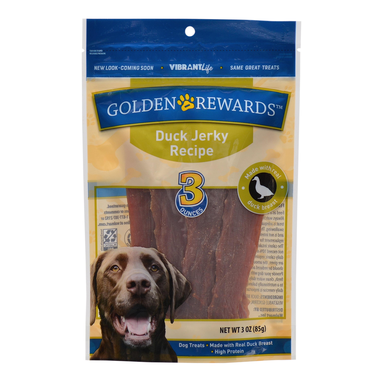 Golden Rewards Duck Jerky Recipe Dog Treats, 3 oz