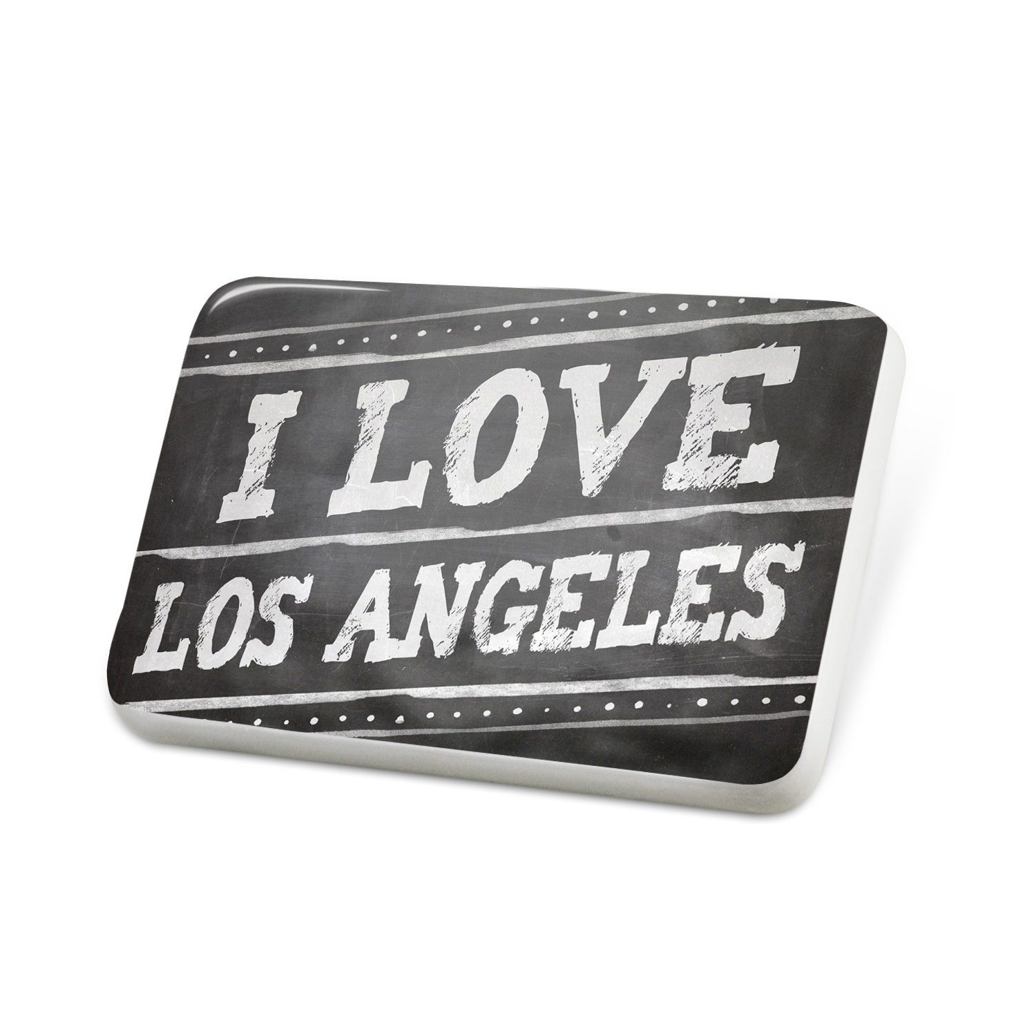 Porcelein Pin Chalkboard with I Love Los Angeles Lapel Badge – NEONBLOND