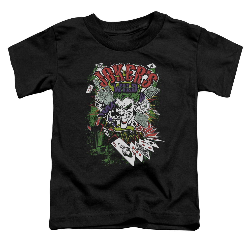 Batman/Jokers Wild   S/S Toddler Tee   Black      Bm2169