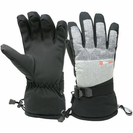 Alpine Swiss Mens Waterproof Gauntlet Ski Gloves Winter Sport Snow 3M (Best Ski Gloves Under 50)