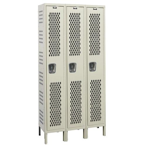 Hallowell Heavy-Duty 1 Tier 3 Wide Ventilated Box Locker