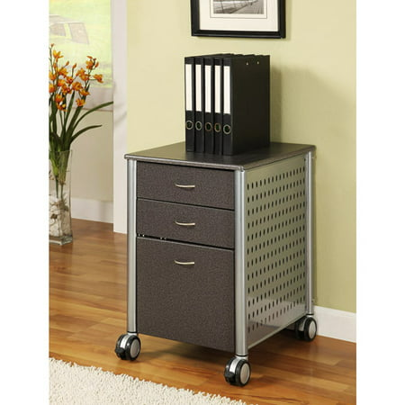 Innovex Mobile Filing Cabinet, Granite Wood