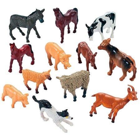 Set of 12 Farm Animal - Farm Animal Figurines