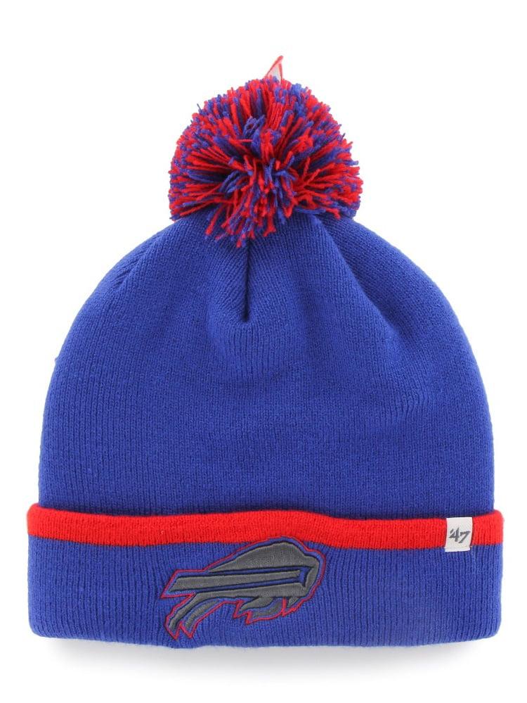 "Buffalo Bills 47 Brand NFL ""Baraka"" Cuffed Knit Hat with Pom by 47 Brand"