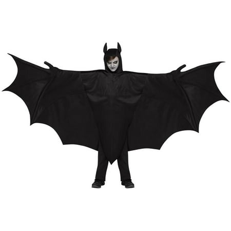 Wicked Wing Bat Child Halloween Costume, One Size, Up to 14 - Wicked Halloween Costumes Uk