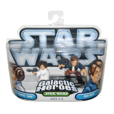 Star Wars Galactic Heroes Han Solo & Princess Leia Hasbro Figure Set](Leia And Han)
