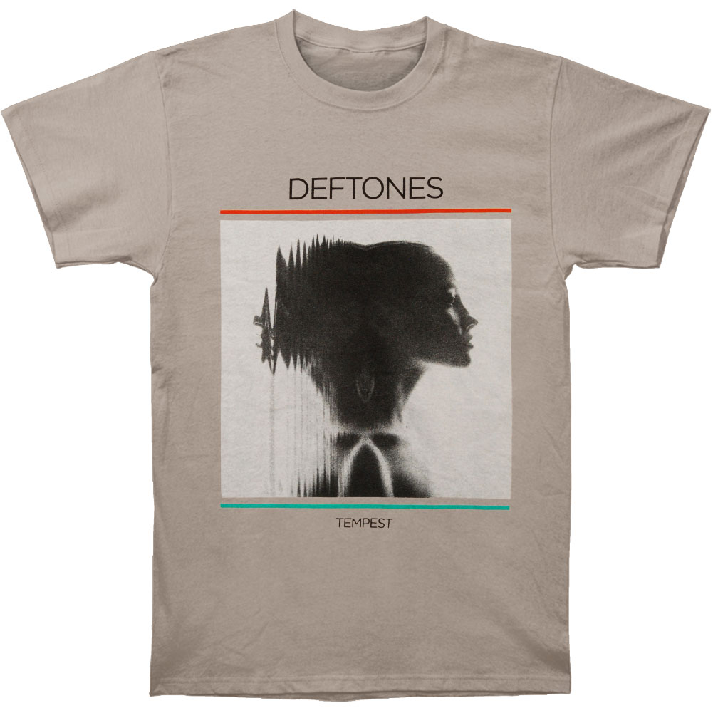 Deftones Men's  Tempest Slim Fit T-shirt Platinum