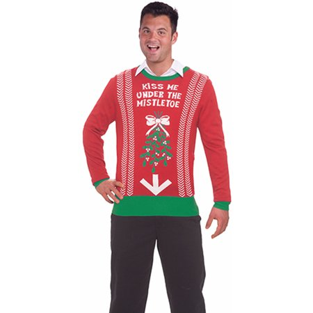 inappropriate funny ugly christmas sweater under the mistletoe - Hilarious Ugly Christmas Sweaters