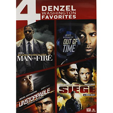 4 Denzel Washington Favorites: Man on Fire / Out of Time / Unstoppable / The Seige (DVD) - Halloweentown On Dvd