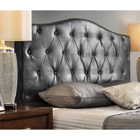 Furniture of America Olivia Full Queen Faux Leather Headboard in Brown