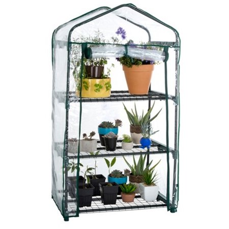 Genesis 3 Tier Portable Rolling Greenhouse with Clear Cover ()