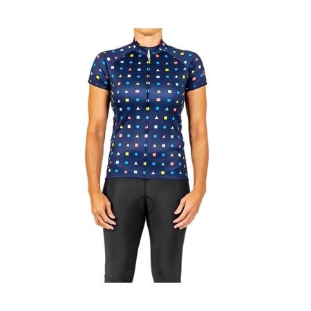 Canari Cyclewear Women's Canari Dream Jersey - 22009 (Polkageo-Navy XL)
