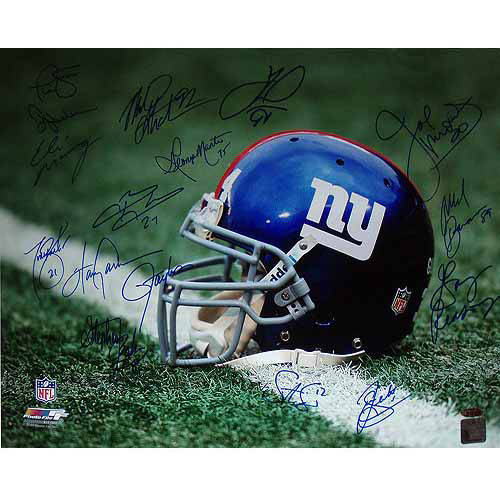 "NY Giants Greats Multi Signed Helmet 16"" x 20"" Photo (16 Sig)"