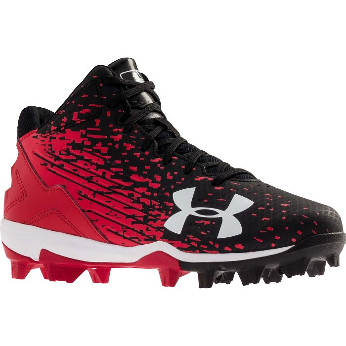 Under Armour Junior Leadoff Mid Rubber Baseball Cleats