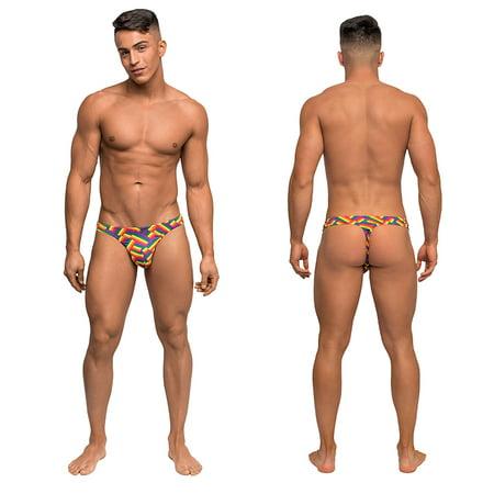 Male Power Mens Pride Fest Bong Thong (Male Power Microfiber Thongs)