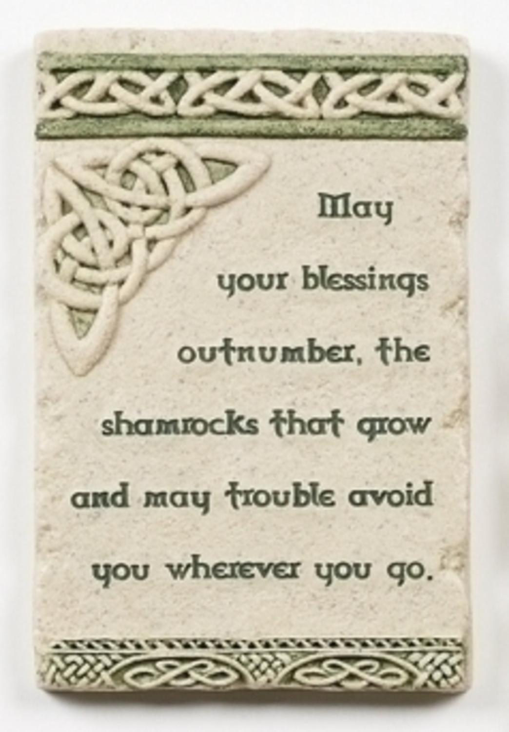 "5.75"" Celtic Trinity Knot and Irish Blessing Religious Versed Wall Plaque by Roman"