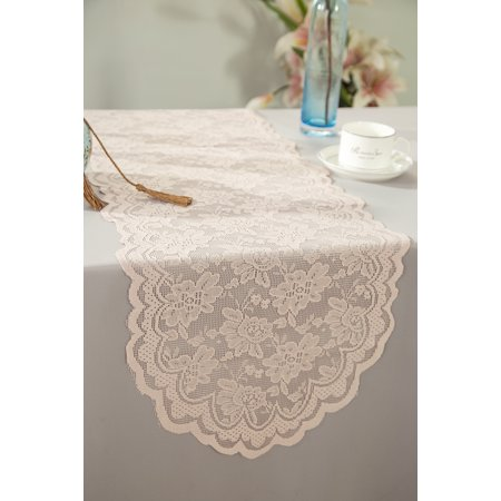 Wedding linens inc wholesale 135 in x108 in lace table runner wedding linens inc wholesale 135 in x108 in lace table runner wedding table runner for wedding dcor events banquet party supplies blush pink junglespirit Images