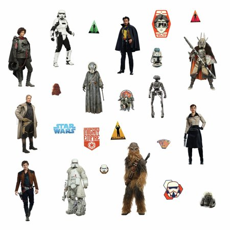 STAR WARS HAN SOLO 24 Wall Decals Chewbacca, Lando Calrissian kids Room Decor Starwars Movie Characters Stickers
